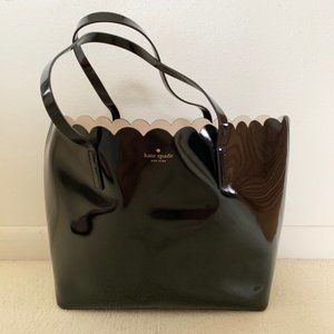 Kate Spade New York Patent Leather Scallop Tote